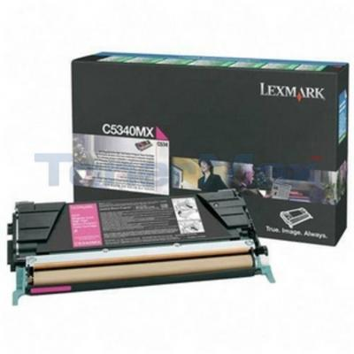 LEXMARK C534 TONER CARTRIDGE MAGENTA RP 7K